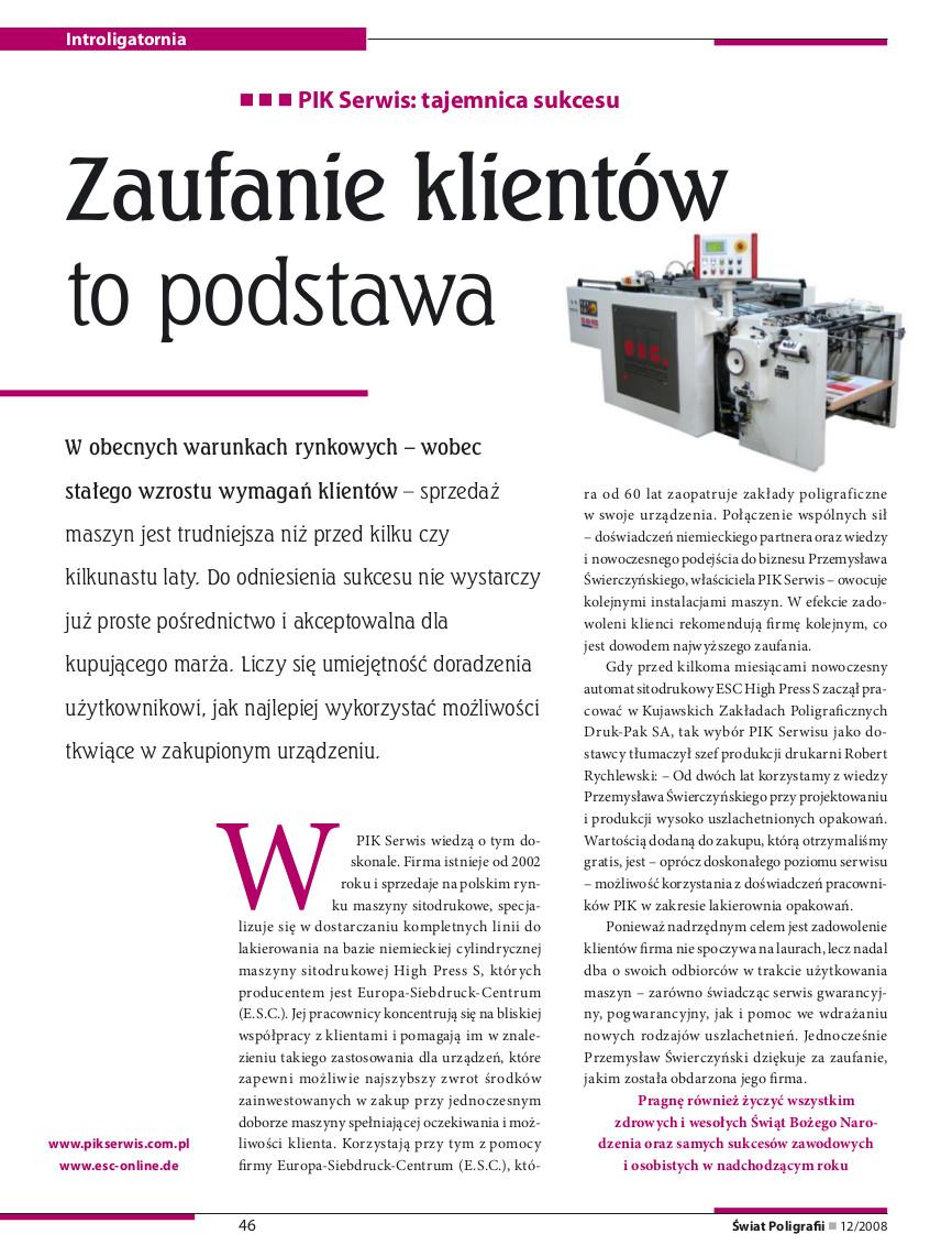 artykuł świat poligrafii 12 2008